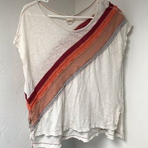Free People (xs) oversized White Tee